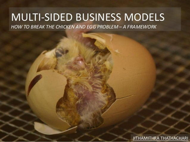 MULTI-SIDED BUSINESS MODELS HOW TO BREAK THE CHICKEN AND EGG PROBLEM – A FRAMEWORK JITHAMITHRA THATHACHARI