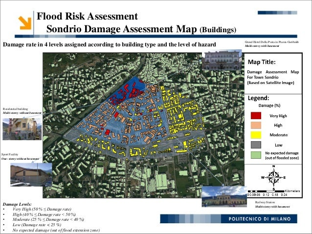 Hazard Modelling and Risk Assessment for Urban Flood Scenario