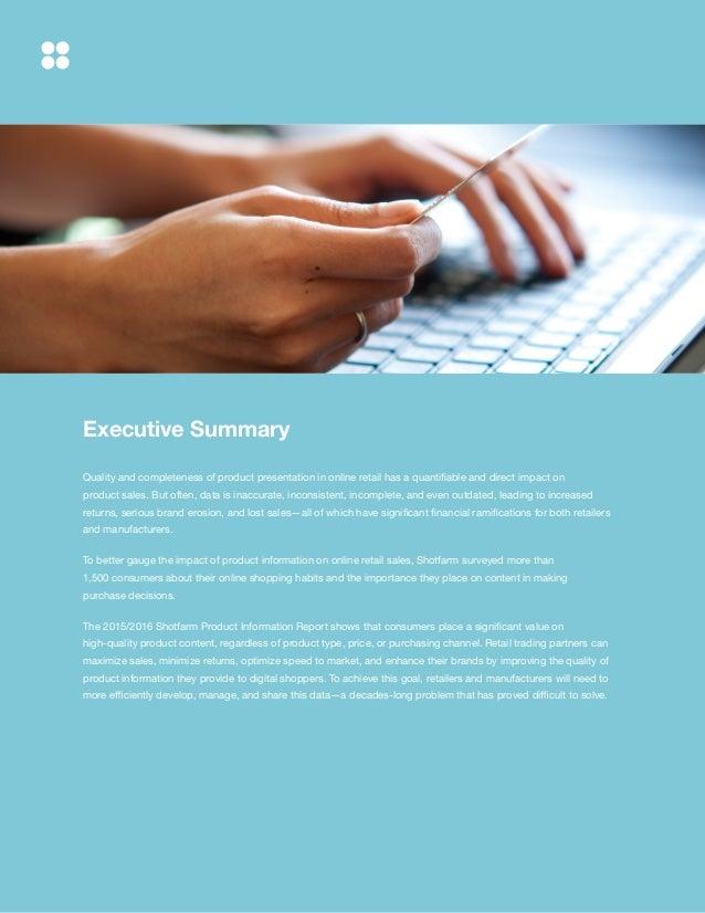 The Shotfarm Product Information Report Slide 2