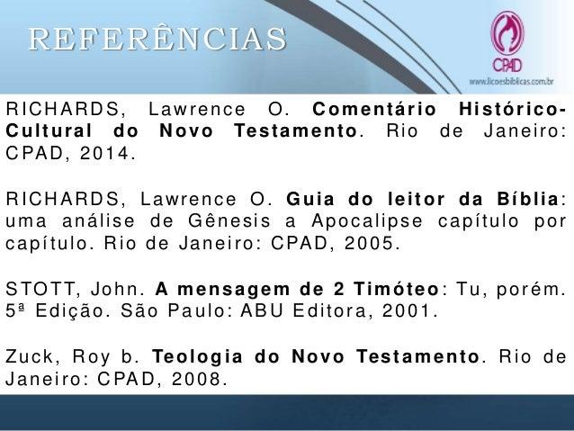 2015 3 TRI LIÇÃO 6 - CONSELHOS GERAIS