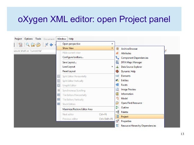 Introduction to markup language and oXygen XML editor