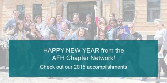 2015 AFH Network Accomplishments