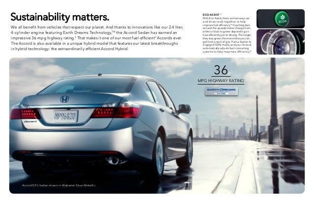 2015 Honda Accord. 11. 36 MPG .