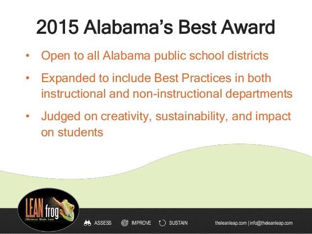 2015 Alabama Best K12 Practices - Contest Winners Slide 2