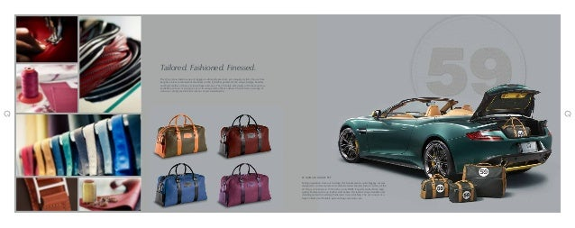 Aston Martin Accessories Catalogue - Aston martin accessories