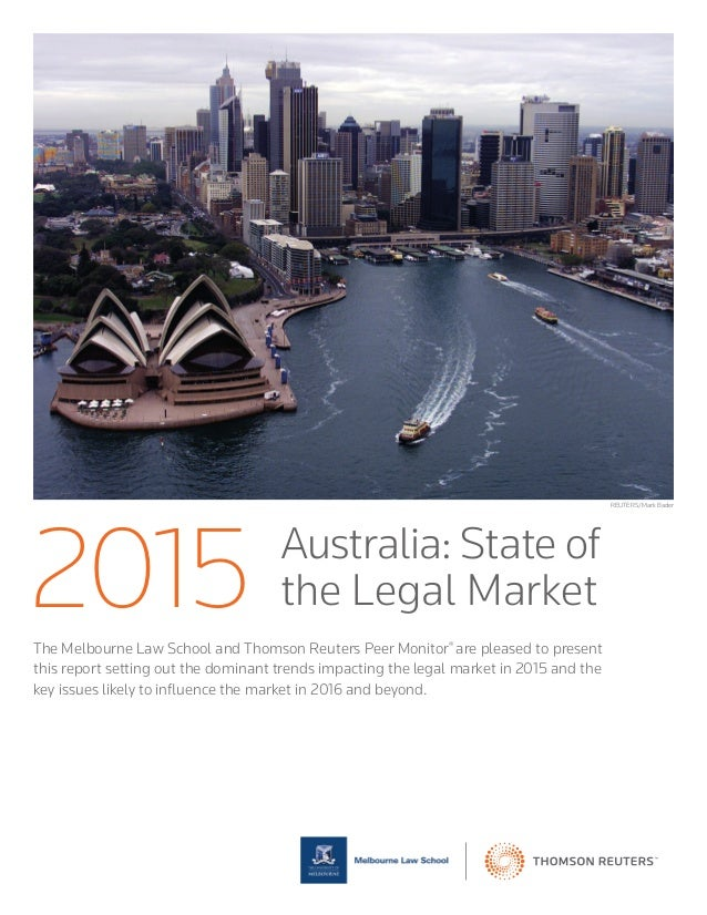 The Melbourne Law School and Thomson Reuters Peer Monitor® are pleased to present this report setting out the dominant tre...