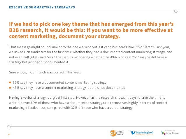 EXECUTIVE SUMMARY/KEY TAKEAWAYS  If we had to pick one key theme that has emerged from this year's  B2B research, it would...