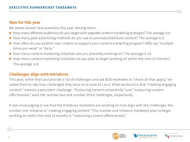 EXECUTIVE SUMMARY/KEY TAKEAWAYS  New for this year  We asked several new questions this year. Among them:   How many diff...