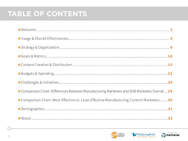 2015 B2B Manufacturing Content Marketing - Benchmarks, Budgets and Trends - North America Slide 2