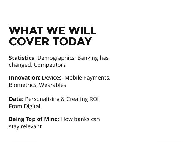 2015 Banking Trends Slide 2