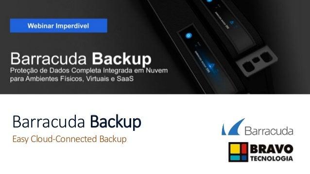 Barracuda Backup Easy Cloud-Connected Backup