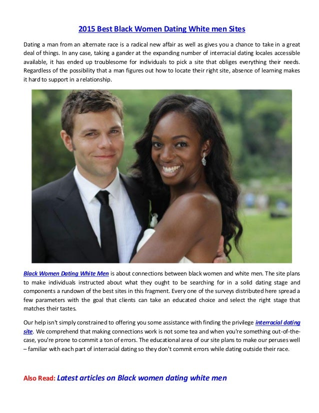Articles on white men dating black women