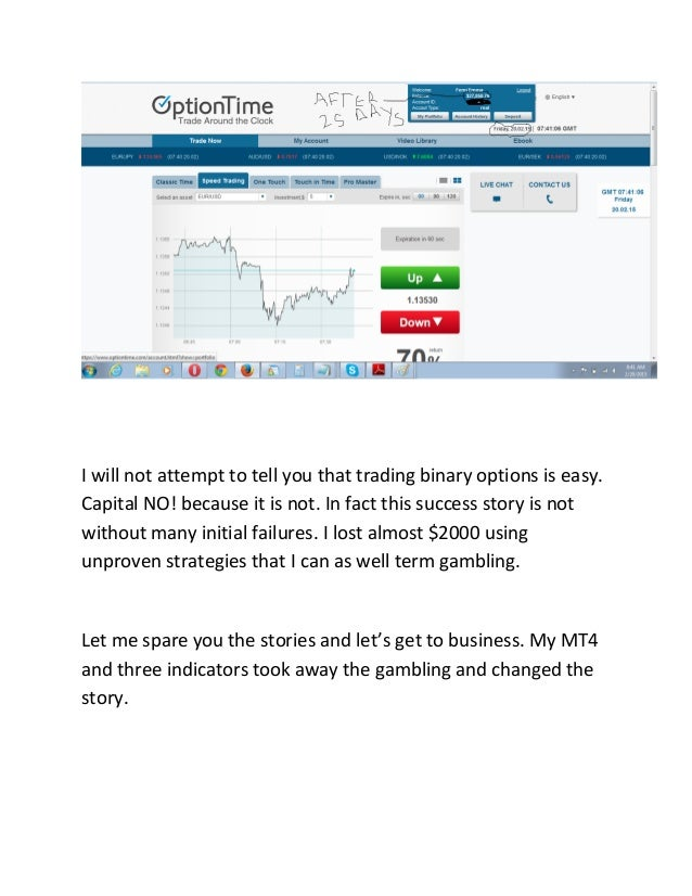 My binary options strategy