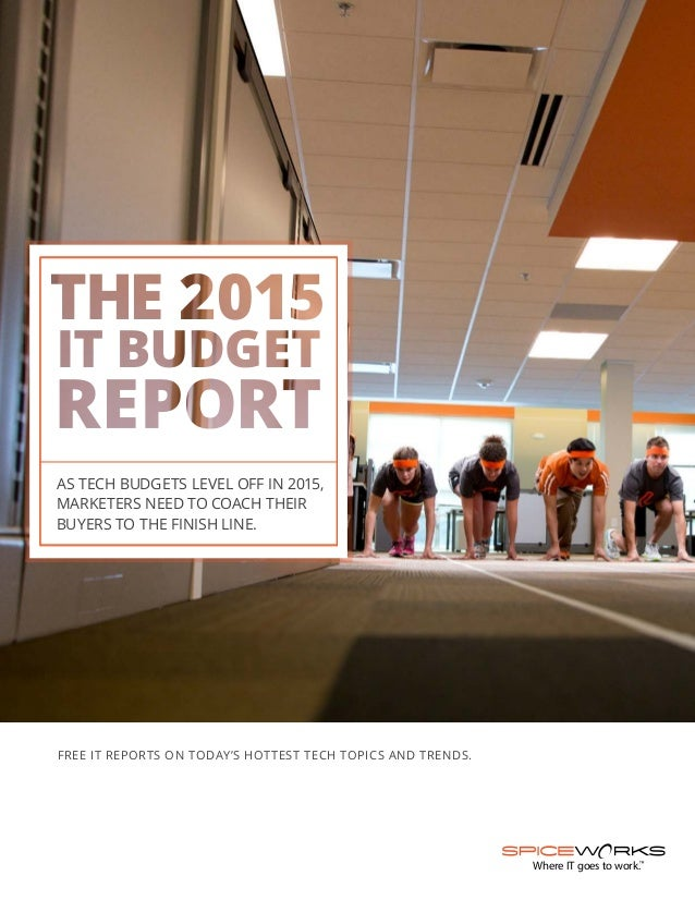 SPICEWORKS: The 2015 IT Budget Report