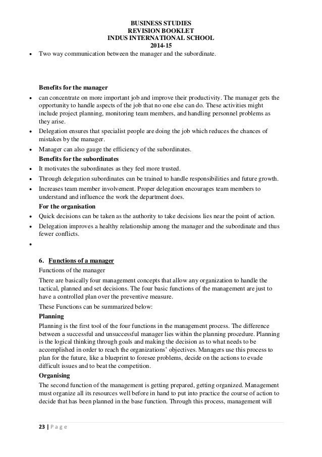IGCSE Business Studies Notes – I-765 Worksheet Sample