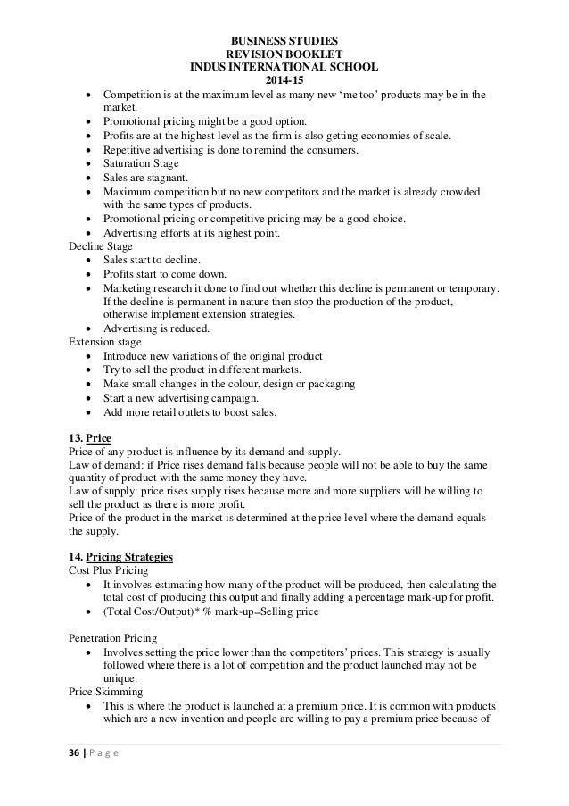 igcse business studies notes