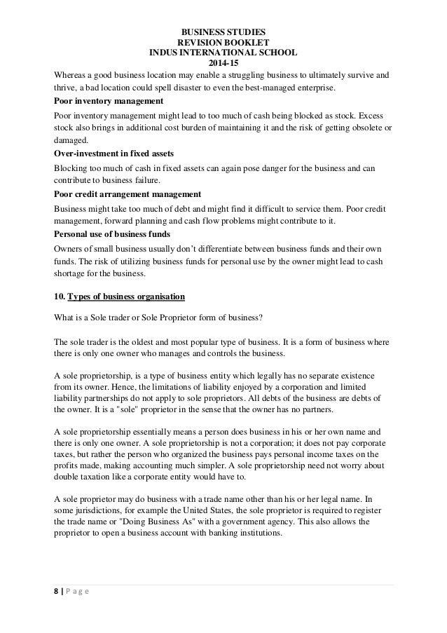 business studies 3 revision