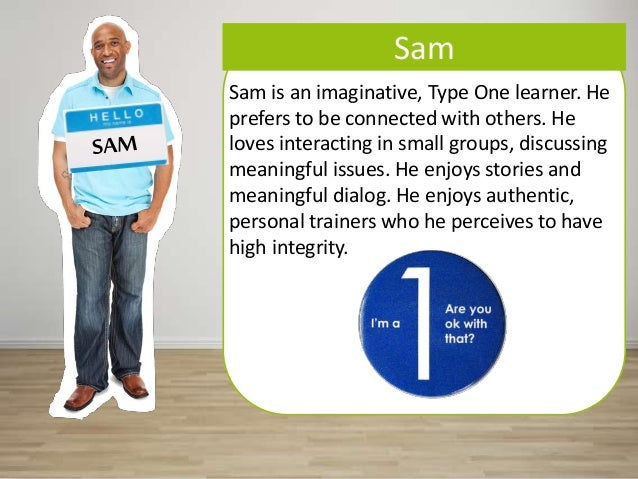 Sam Sam is an imaginative, Type One learner. He prefers to be connected with others. He loves interacting in small groups,...