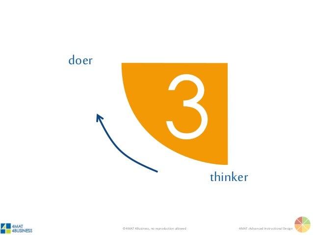 ©4MAT 4Business, no reproduction allowed 4MAT: Advanced Instructional Design thinker doer