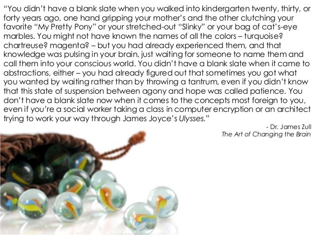 """""""You didn't have a blank slate when you walked into kindergarten twenty, thirty, or forty years ago, one hand gripping you..."""