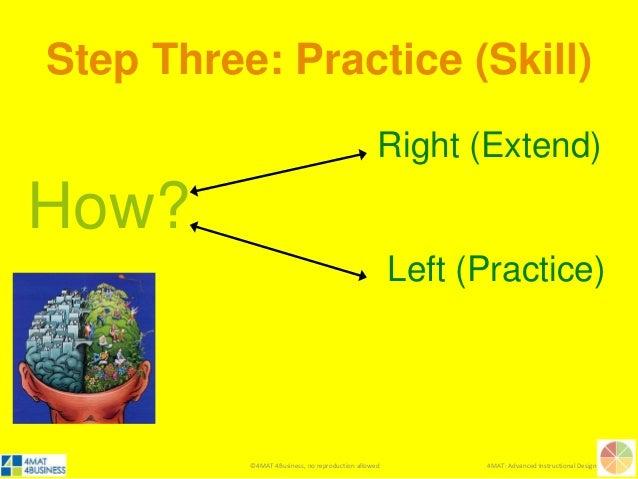 ©4MAT 4Business, no reproduction allowed 4MAT: Advanced Instructional Design