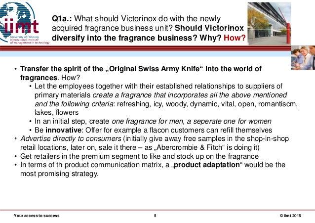 Case Victorinox Extending Into Fragrance Industry