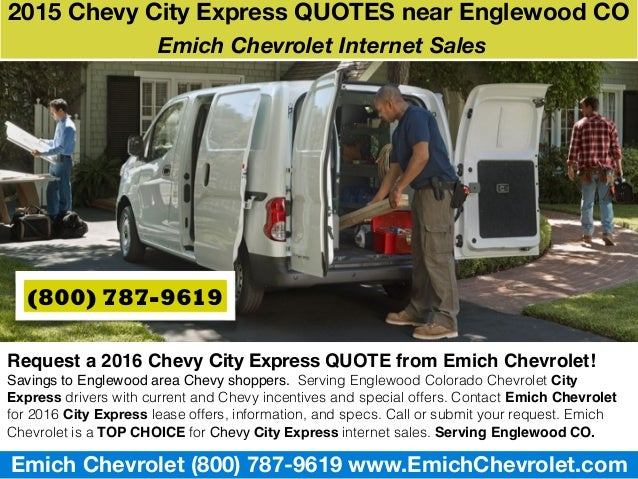 Chevy Quotes | 2015 Chevy City Express Quotes Near Englewood Co