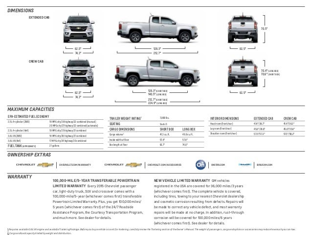 2015 Chevrolet Colorado Brochure McKaig Chevrolet Buick ...