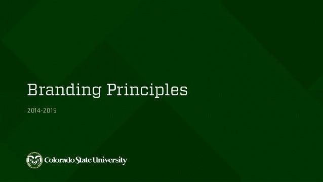 Branding Principles 2014-2015