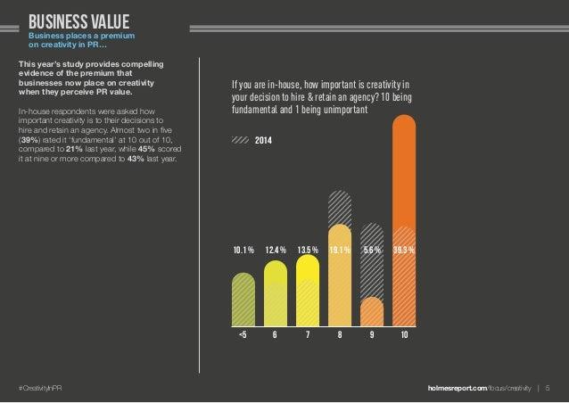 holmesreport.com/focus/creativity 5#CreativityInPR Business valueBusiness places a premium on creativity in PR… This yea...