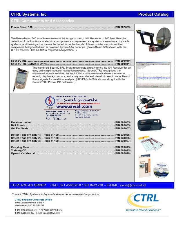 Katalog CTRL Ultrasonic Inspection Systems. Hubungi PT. Siwali Swantika 021-45850618 Slide 3