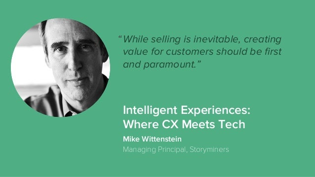 """While selling is inevitable, creating value for customers should be first and paramount."""" Mike Wittenstein Managing Princip..."""