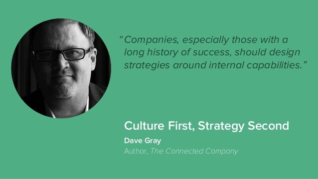 Culture First, Strategy Second Companies, especially those with a long history of success, should design strategies around...