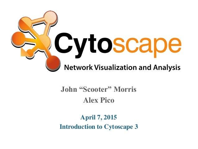 "John ""Scooter"" Morris Alex Pico April 7, 2015 Introduction to Cytoscape 3"