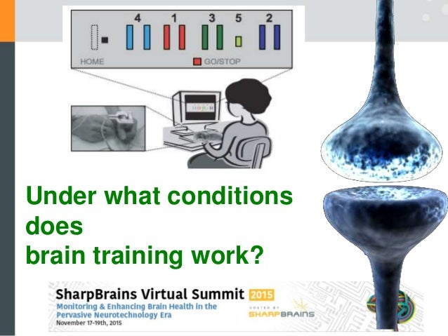 Under what conditions does brain training work?