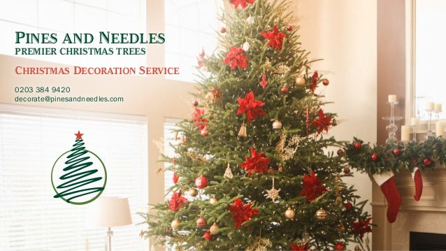 Pines And Needles PREMIER CHRISTMAS TREES Christmas Decoration Service 0203  384 9420 Decorate@pinesandneedles.