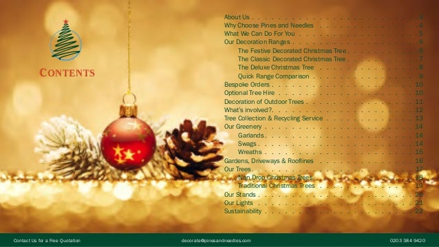 christmas decoration service brochure
