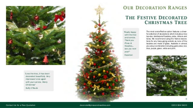6 6 our decoration ranges the festive decorated christmas tree