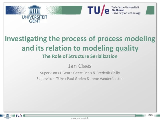 1/15 www.janclaes.info Jan Claes Supervisors UGent : Geert Poels & Frederik Gailly Supervisors TU/e : Paul Grefen & Irene ...