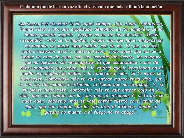 """Preguntas para la lectura: ¿Qué dice? ¿Por qué los discípulos del Señor le impiden a la persona que """"saque los demonios""""? ..."""