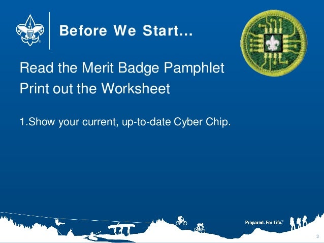 Digital Technology Merit Badge – Computer Merit Badge Worksheet