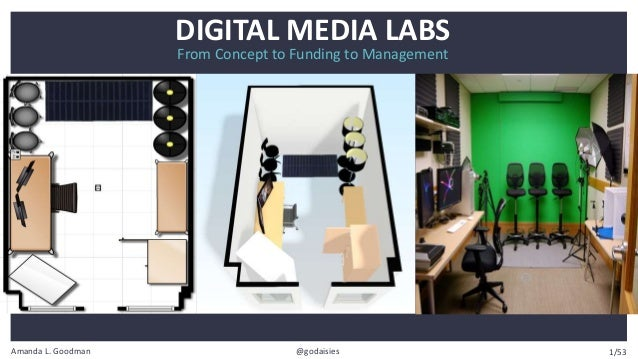 Amanda L. Goodman @godaisies From Concept to Funding to Management DIGITAL MEDIA LABS 1/53