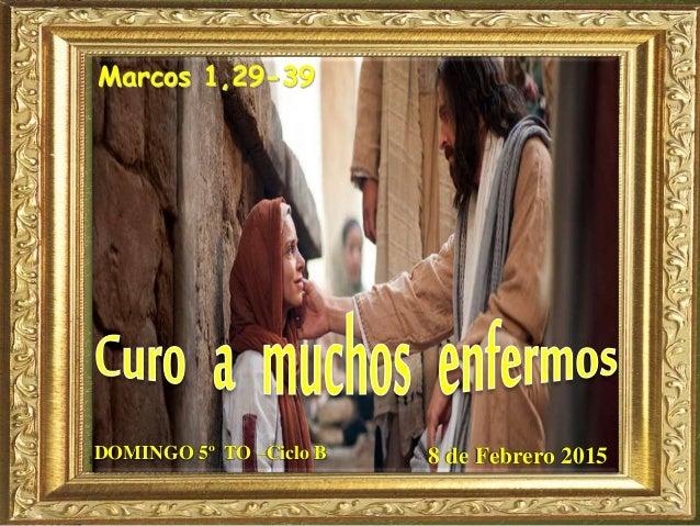 Marcos 1,29-39 DOMINGO 5º TO –Ciclo B 8 de Febrero 2015