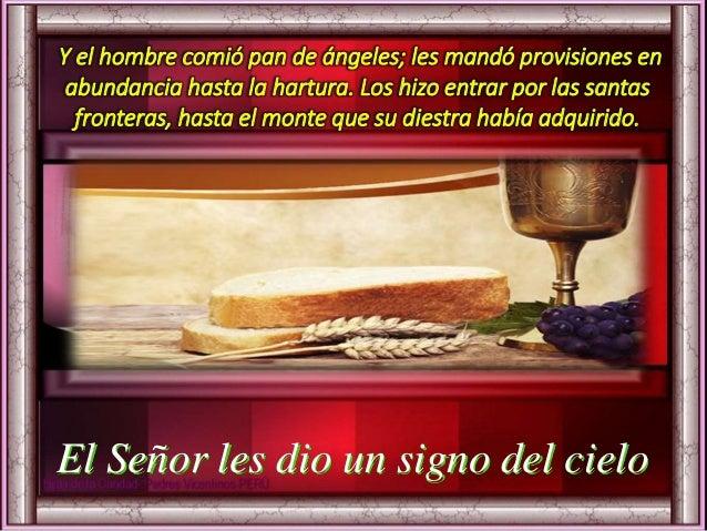 de la vida eterna, haciéndonos ver la necesidad de buscar en ti el alimento que perdura y permanece para la vida eterna, e...
