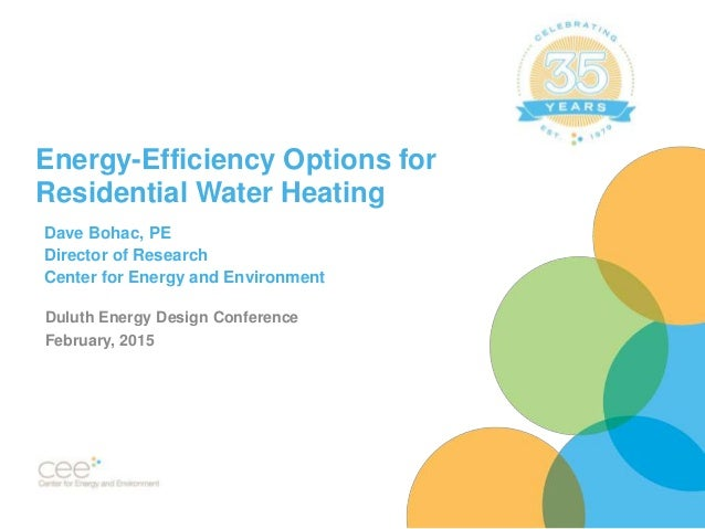 Energy Efficiency Options For Residential Water Heating