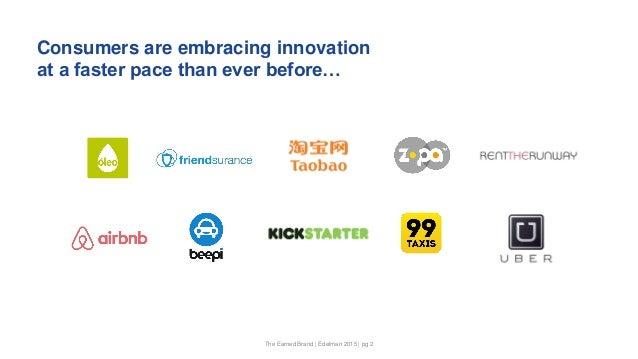 Innovation and the Earned Brand Slide 2