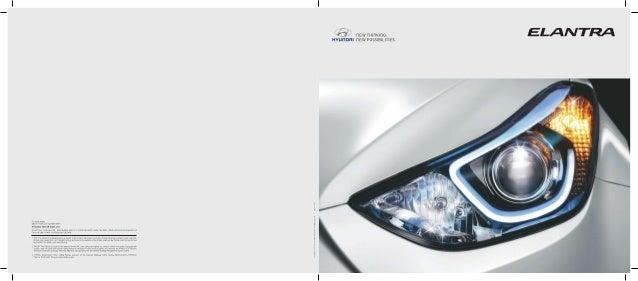 Hyundai Elantra Brochure Pdf