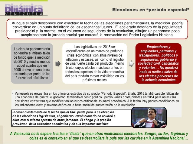 """Elecciones en """"período especial"""" Aunque el país desconoce con exactitud la fecha de las elecciones parlamentarias, la medi..."""