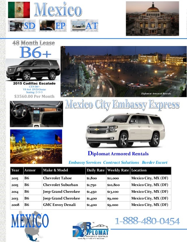 Chevrolet Suburban San Diego >> 2015 Embassy Book from Diplomat Armored Rentals (Armored ...