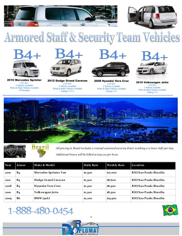 2015 Embassy Book From Diplomat Armored Rentals Armored Vehicle Pric